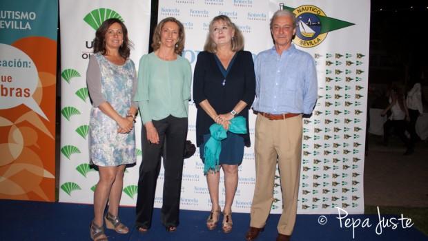 Lola Cano, Mercedes Molina, Lola Blanco Morales y Alvaro Basa