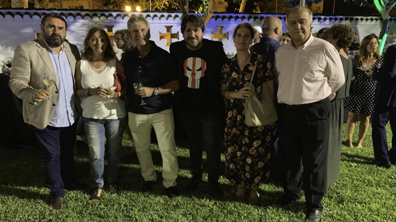 Matías Vela, somelier de Viñafiel; Angeles Padilla, Juan Jimenez, Rafa Bellido, María Inés Ruiz y Manuel Capelo de Gourmet Huelva